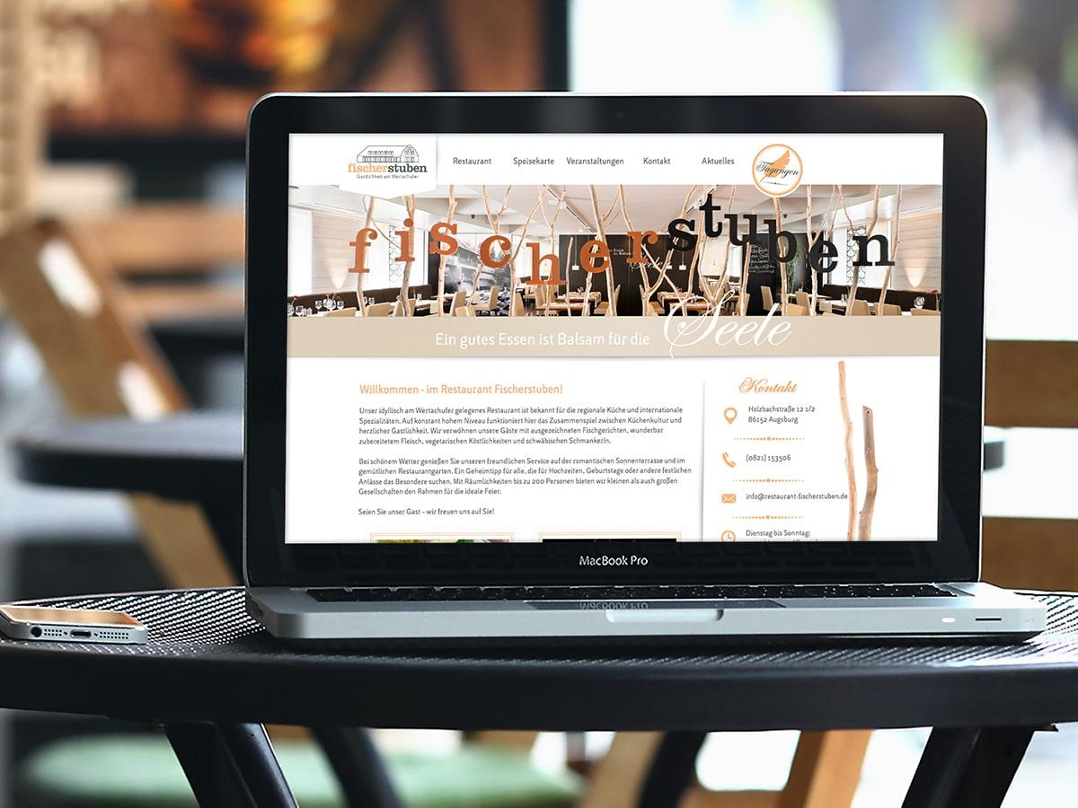 Referenz Website Restaurant Fischerstuben Augsburg