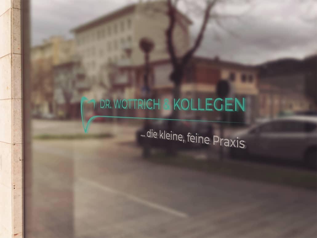 Referenz Logodesign Website Design Zahnarzt Wottrich Augsburg