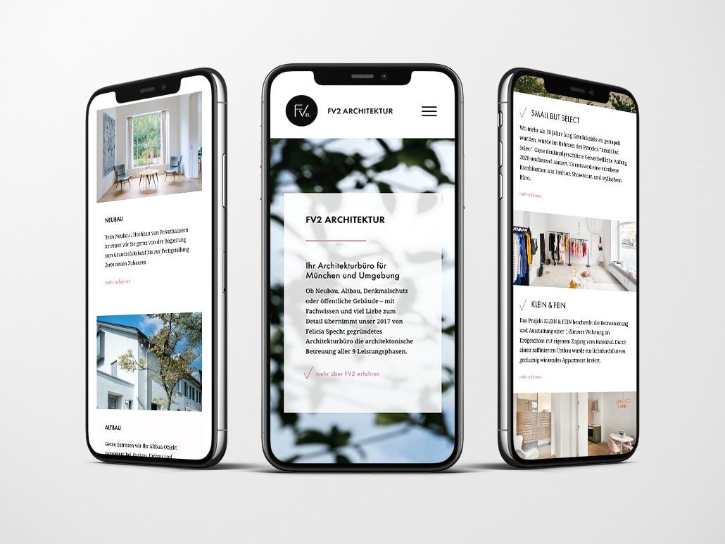 Referenz Website Design FV2 Architektur