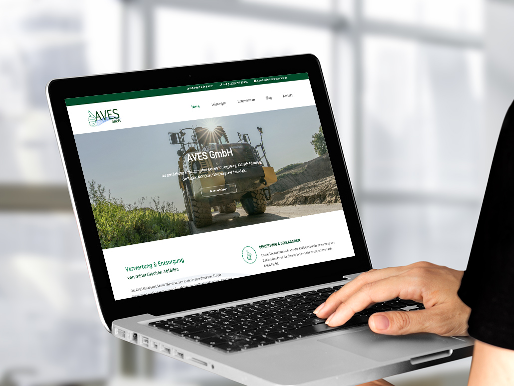 Website Design AVES GmbH